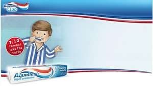 free sample of Aquafresh fresh and minty