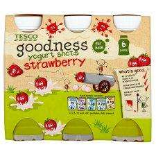 Tesco Goodness Strawberry Yogurt Drinks 6X100g was £1.50 now 50p online + instore @ Tesco