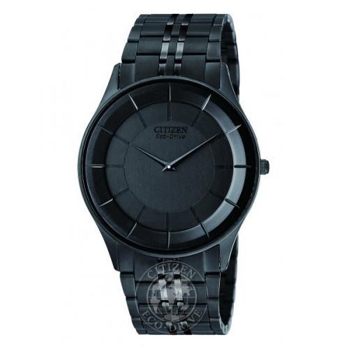 Citizen Men's Stiletto Black IP Eco-Drive Bracelet Watch - AR3015-53E for £195 @ Nigel Ohara