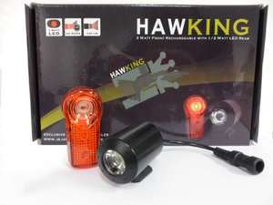 Hawking 120 Lumen Front Rechargeable With 1/2 Watt Led Rear £34.99 Was £99.99 at JeJames