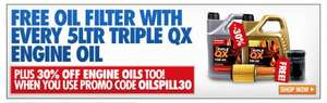 TRIPLE QX Engine Oil (5 litres) + Free Oil Filter from £13.99 delivered at Euro Car Parts