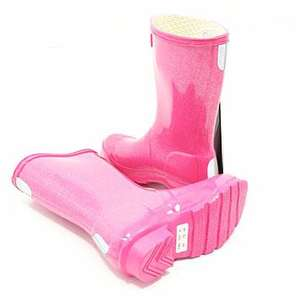 Kids Hunter Glitter Wellies - Fuchsia, using code HUN20 for 20% off  £31.20 @ garden4less