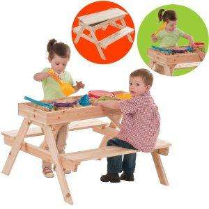 Dominoes Children's Wooden Picnic Table and Sandpit (Includes Table Top/Cover) £13.99 delivered @ Play.com