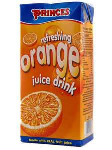 Princes 1L Juice Drinks 2 for 99p! - Orange, Tropical, Apple and Blackcurrant @ 99P stores