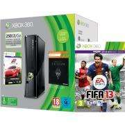 Xbox 360 250GB Holiday Bundle (Includes Forza 4 'Essentials Edition', Skyrim 'Live DLC', 1 Month Xbox Live)  + choice of one Pre-order Game  FIFA13, PES 2013, MOH WARFIGHTER, FAR CRY 3, HALO 4, FORZA HORIZON, NFS MOST WANTED,BORDER LANDS2 @ THEHUT.CO