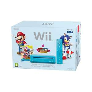 Nintendo Wii console ( blue ) with Mario & Sonic Pre owned £56.99 delivered @ Grainger Games.