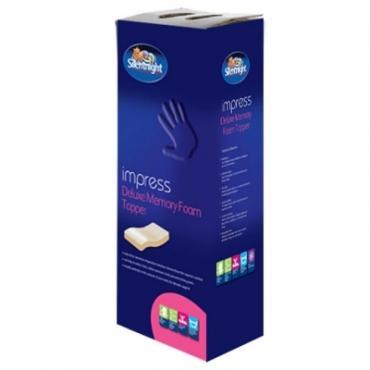 Silentnight Impress 5cm Depth Memory Foam Mattress Topper Double or King Size Ebay uk-bedding £59.99 delivered