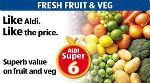Aldi super six - 39p Veg Offers