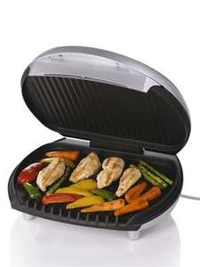 George Foreman 10099 6-Portion Entertaining Grill in Silver - £39.99 @ Amazon