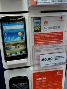 Huawei Ascend G300 Smartphone on Vodafone PAYG £60 (£45 with groceries) @ Tesco instore