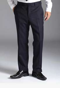 Burton Black Label Tailored Navy Stripe Trousers £15 (RRP £50)  +5% Quidco