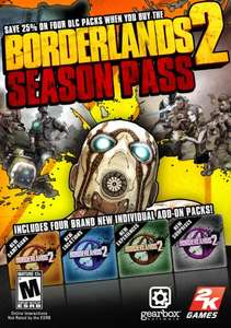 Borderlands 2 Season Pass (DLC) for PS3 & Xbox 360 - £20.00 & £19.99 respectively @ GAME & GAMESTATION (PSN: £23.99 - Xbox 360: 2400 MS Points (Just over £20)