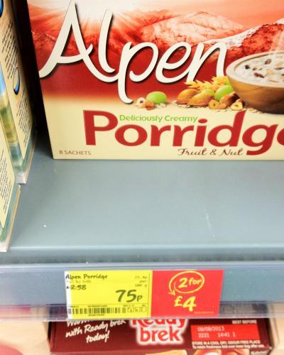 Alpen Porridge Fruit & Nut - 8 Sachets for 75p @ Asda Instore