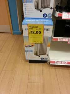 BIONAIRE Oil Filled Radiator £12 reduced from £50 (good for cold nights) @ tesco