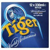 Tiger Beer 12 x 330ml bottles for £8 instore and online @ Asda
