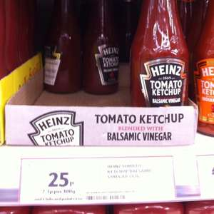 Heinz Tomato Ketchup with Balsamic Vinegar for £0.25 @ Tesco Extra