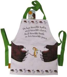 The Gruffalo Cotton Apron £2.75 with free delivery, from Waterstones