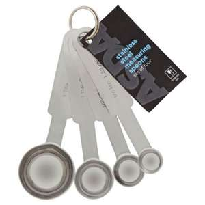 Asda Stainless Steel Measuring Spoons for £2.50 (In the 4 for £6 kitchen utensils offer) @ ASDA Direct