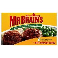 Mr. Brain's 6 Pork Faggots 714G half price 74p Tesco