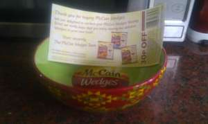 Buy 2 x Mccain Mexican style wedges 750g for £2 and get a free sharing bowl @ Tesco (on-line redemption required