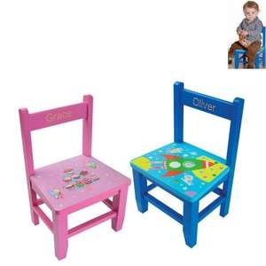 Childs Personalised Wooden Chair £8.99 With Code Plus £4.99 Delivery @ 24  Studio