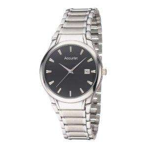 Accurist Stainless Steel Special Black Watch £14 Delivered with code @ John Greed Jewellery