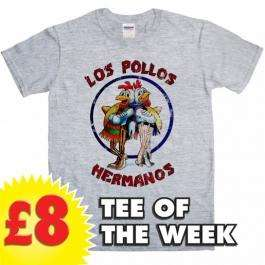 Breaking Bad Inspired Mens Tshirt - Los Pollos Hermanos 8Ball tshirts £10.95