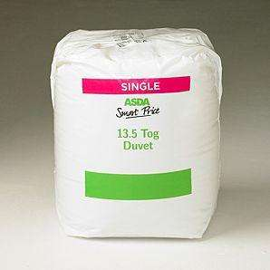 Asda smart price 13.5 tog single duvet - £5.91