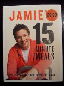 Jamie's 15 minute meals. £9.99 at Sainsburys