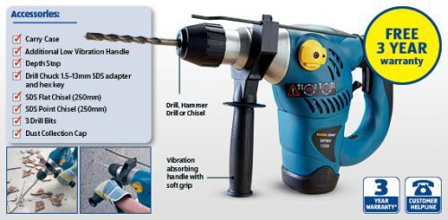 Workzone (Meister Werkzeuge) SDS + Rotary Hammer Drill only £39.99 @ Aldi