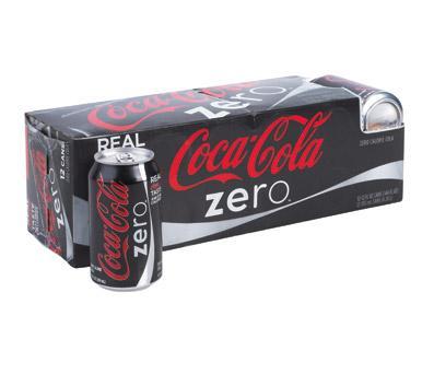 Coke Zero/Diet Coke Caffeine Free Fridge Packs 10 x 330ml £2.50 @ Heron Foods