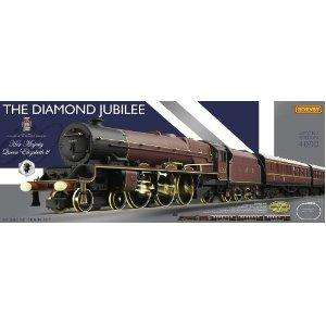 Hornby R1170 The Diamond Jubilee OO gauge Limited Edition Electric Train Set £139.99 delivered @ Amazon