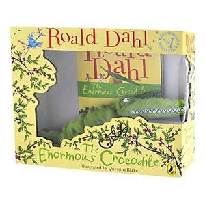 Various gift boxed children's books with soft toys from £2.50 (The very dizzy dinosaur) @ tesco including Roald Dahl enormous crocodile for £5