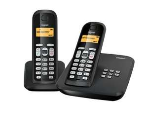 GIGASETAS300A Gigaset Digital Cordless Telephone with Answering Machine - Twin Pack  Now £19.98@ Currys