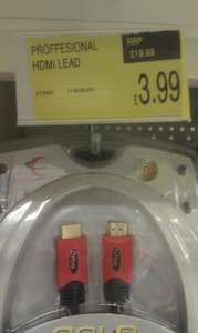 HDMI 5M Gold Plated cable £3.99 @ B&M Store (instore)