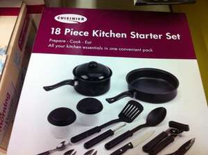 Cuisinier 18 Piece kitchen starter set £4.38 @ tesco instore