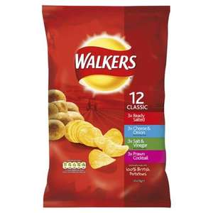 Walkers 12 pack Variety. (Classic & Meaty) £1 All Keystores (so scotland basically)