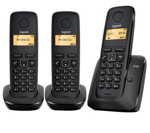 Gigaset A120 Digital Cordless Phone Triple Handset for 91p @ Currys