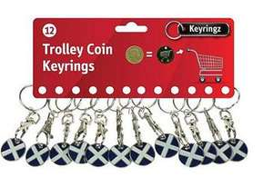 12 Shopping Trolley pound keyrings w/ clasps (Many designs to choose), £4.03 delivered @ eBay / the_geek_shop