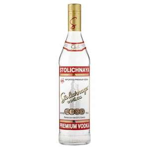 Stolichnaya Vodka 70cl was £18.50 now £12 at Tesco online and in store!