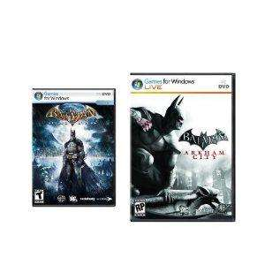 Batman Arkham City and Asylum Action Pack PC  [Download] £4.64 @ Amazon US
