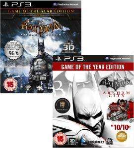 Batman Arkham GOTY Bundle: Includes Arkham City and Arkham Asylum PS3/360 @ Zavvi