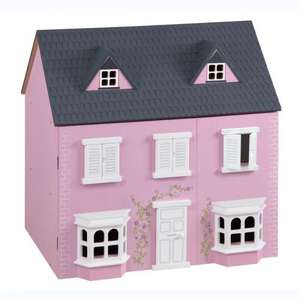 Traditional Wooden Dolls House & Furniture was £75 now £35.00 del to store @ Asda