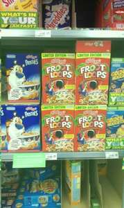 Kelloggs Froot Loops (350g)  £2.68 in store £2.68 on line Asda