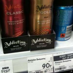 Addiction Gold deo spray (like Paco 1 million) 90p @ asda instore
