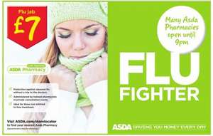 Winter Flu Jab at any ASDA Pharmacy for £7