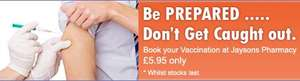 Winter flu jab £5.95 at Jaysons pharmacy branches (Long Eaton and Wollaton)