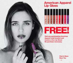 Free Lip Gloss from American Apparel. No purchase necessary