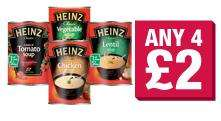 Heinz Soup 400g  various varieties, Any Four for £2.00 at Co-op