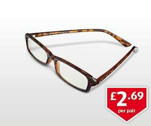 Reading Glasses £2.69 at Aldi